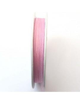 Ruban organdi 3 mm rose -...