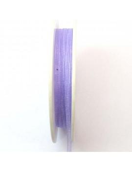 Ruban organdi 3 mm violet -...
