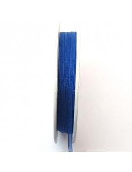 Ruban organdi 3 mm bleu...