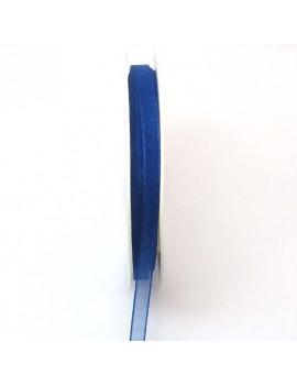 Ruban organdi 6 mm bleu...