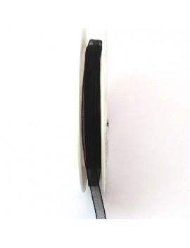 Ruban organdi 6 mm noir -...