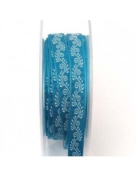 Galon à motifs 10 mm bleu -...