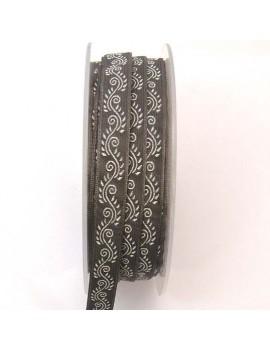 Galon à motifs 10 mm gris -...