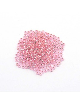 Rocailles 9/0 - 2,5 mm rose...