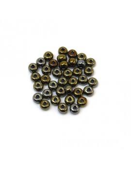 Rocailles 4/0 - 5 mm bronze...