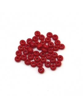 Rocailles 4/0 - 5 mm rouge...