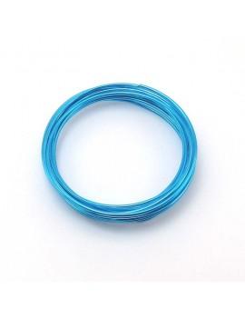 Fils aluminium bleu 2 mm -...