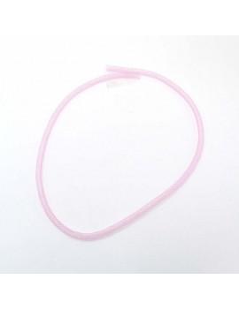 résille tubulaire rose pâle...