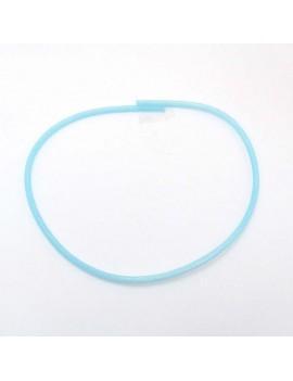 résille tubulaire bleu aquamarine 4 mm - 50 cm