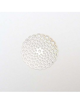 Estampe ronde argent vieilli 40 mm