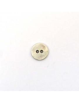 Bouton argent vieilli 15 mm