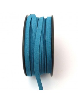 Daim 6 mm bleu canard - 50 cm