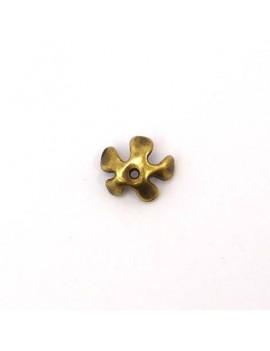 Calotte fleur lisse bronze...