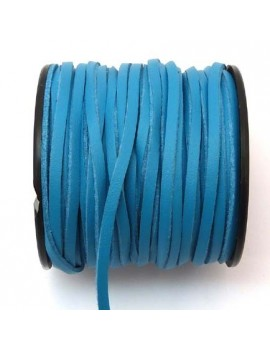 Daim 3 mm bleu imitation...
