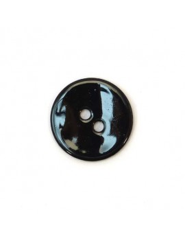 Bouton en nacre noir 18 mm