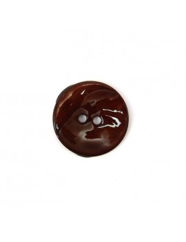 Bouton en nacre marron 18 mm
