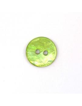 Bouton en nacre vert 18 mm