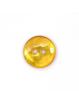 Bouton en nacre jaune 18 mm
