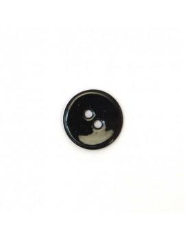 Bouton en nacre noir 12 mm