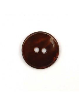Bouton en nacre marron 20 mm