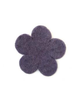 Fleur en feutrine violette...