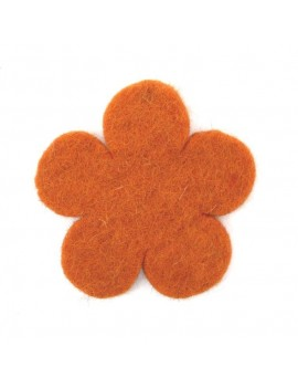 Fleur en feutrine orange 60 mm