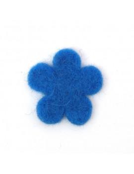 Fleur en feutrine bleu...
