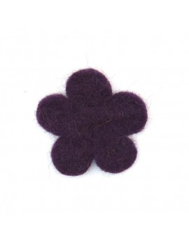 Fleur en feutrine amethyst 35 mm
