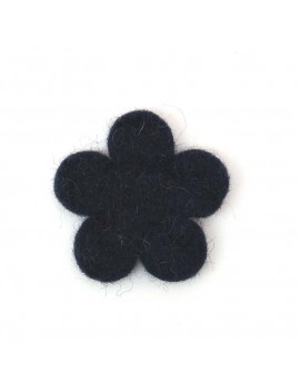 Fleur en feutrine bleu navy...