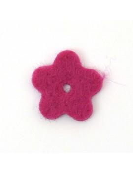 Fleur en feutrine fushia 20 mm