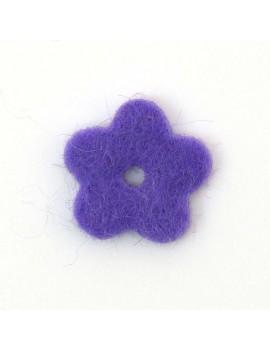 Fleur en feutrine violet 20 mm
