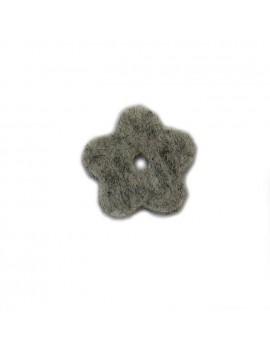 Fleur en feutrine gris 20 mm