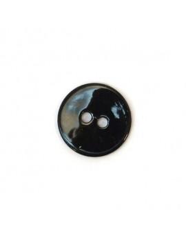 Bouton en nacre noir 15 mm