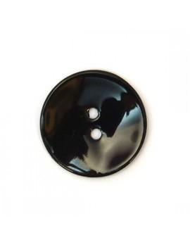 Bouton en nacre noir 22 mm