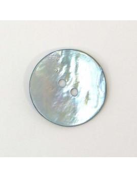Bouton en nacre bleu ciel 22 mm