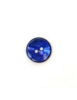 Bouton en nacre bleu...