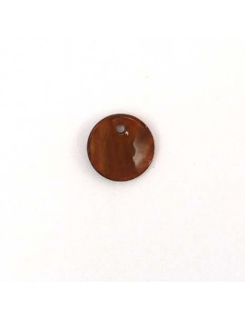 Sequin en nacre marron 12 mm
