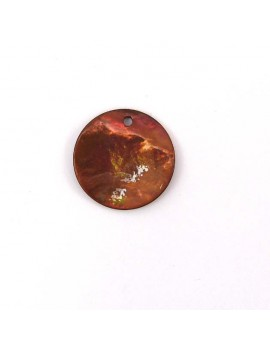 Sequin en nacre marron 20 mm