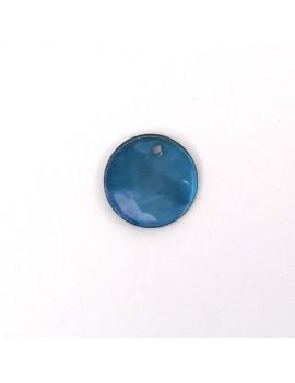 Sequin en nacre bleu 15 mm