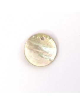 Sequin en nacre naturel 20 mm