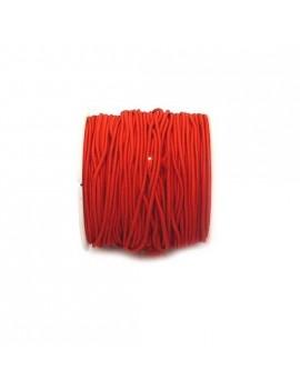 Elastique rouge 1 mm - 50 cm
