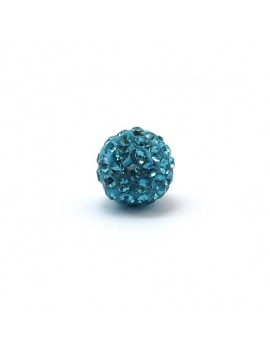 Perle strass 10 mm turquoise
