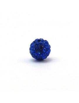 Perle strass 10 mm bleu...