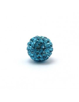 Perle strass 12 mm turquoise