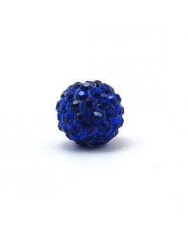 Perle strass 12 mm bleu...