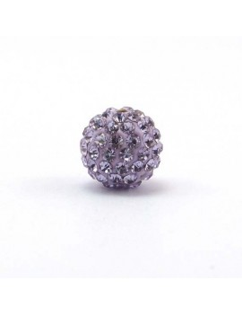 Perle strass 12 mm violet