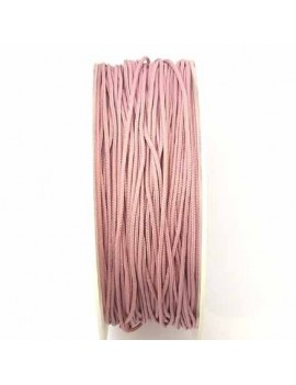 Cordon polyester 1 mm rose...
