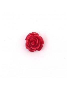 Rose en résine fuchsia 15 mm