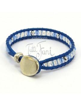 Bracelet wrap bleu électrique