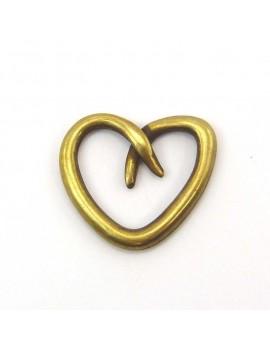 Coeur évidé bronze 22 mm